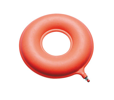 Opblaasbaar rubberen ringkussen 41 cm