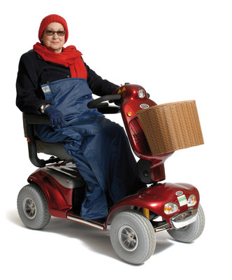 Deluxe Scooter Cosy L borstomvang 127 lengte 127 cm