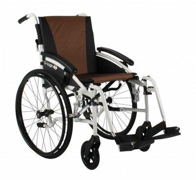 Excel G-Logic rolstoel (wit, bruin/zwart)